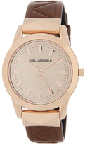 Karl Lagerfeld Women&s Labelle Stud Leather Watch