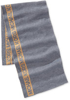 Michael Kors Men's Side-Stripe Signature Scarf
