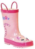 Toddler Girl's Kitty Rain Boots - Pink