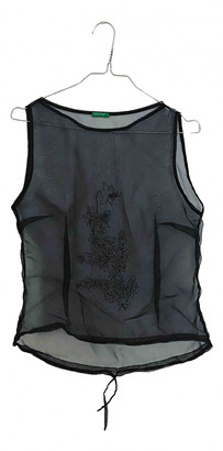 Benetton Black Synthetic Tops