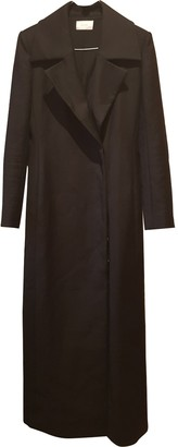 The Row Black Cotton Coat for Women