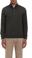 Barneys New York Men's Wool Mock Turtleneck Sweater-DARK GREEN