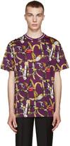 Versace Purple Belt Print T-Shirt