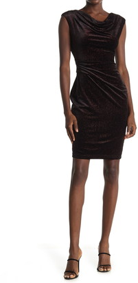 Eliza J Velvet Cap Sleeve Sheath Dress