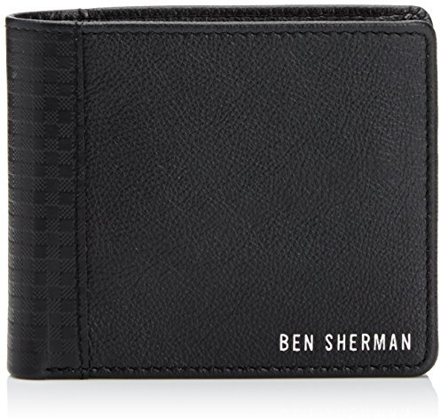 Ben Sherman Men's Emboss Leather Gingham Billfold