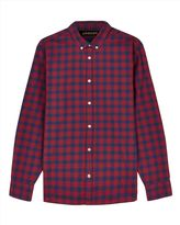 Flannel Windowpane Check Shirt