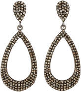 Bavna Pave Champagne Diamond Teardrop Earrings, Multi