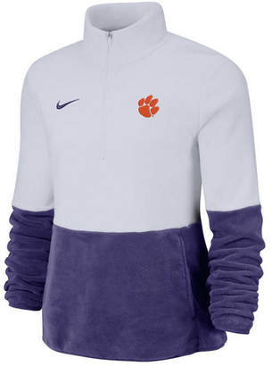 Nike Women Clemson Tigers Therma Long Sleeve Quarter-Zip Pullover