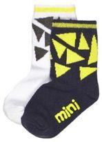 River Island Mini boys black geometric socks multipack
