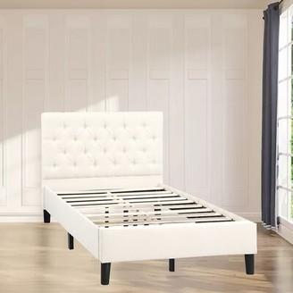 Latitude Run Elandus Tufted Upholstered Platform Bed Size: Twin