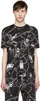 Markus Lupfer Black Cartoon Animals Chris T-shirt