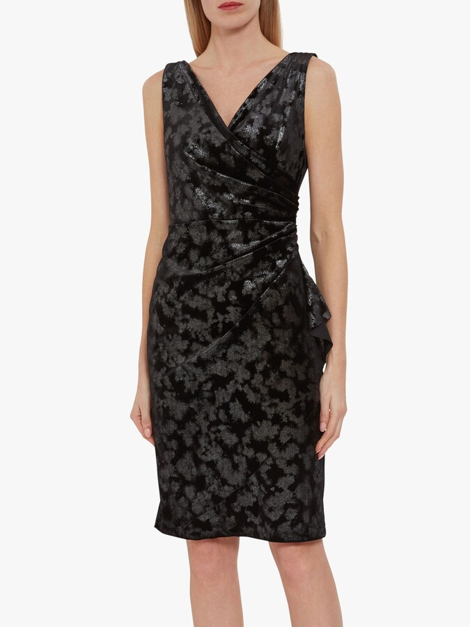 Thumbnail for your product : Gina Bacconi Cambria Metallic Velvet Wrap Dress