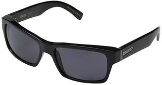 Von Zipper VonZipper Fulton Polarized (Black Gloss/Vintage Grey Wildlife Polarized Lens) Sport Sunglasses