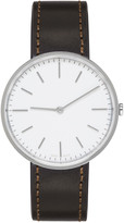 Uniform Wares Silver and Brown Leather M37 Watch