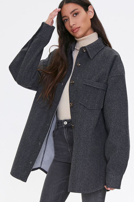Forever 21 Drop-Shoulder Button-Front Jacket
