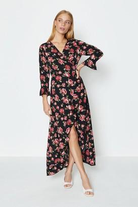 Coast Floral Printed Midi Wrap Dress