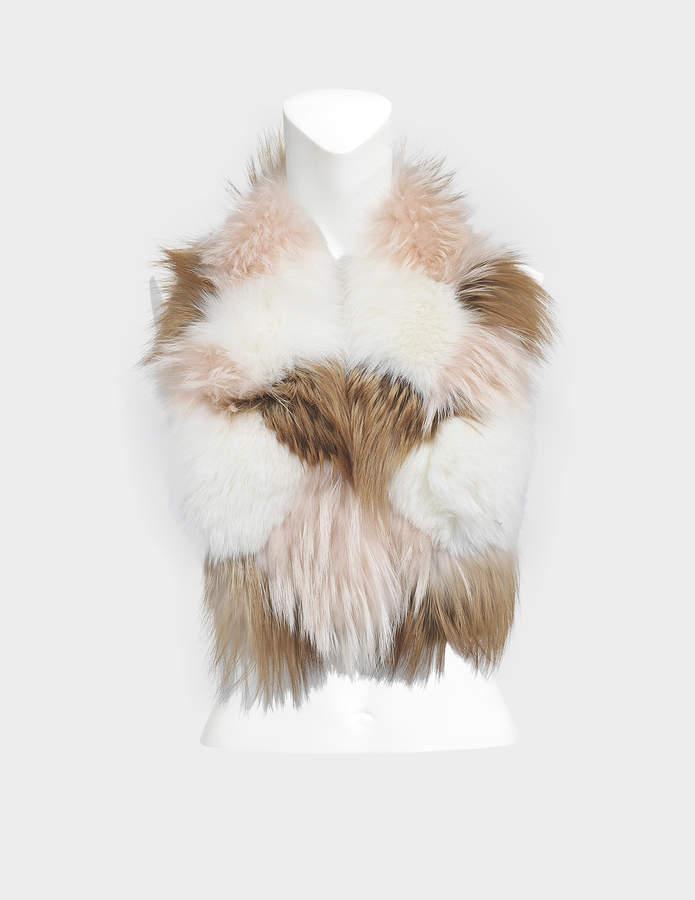 Yves Salomon fox and groundhog collar