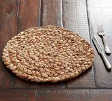 Pottery Barn Round Water Hyacinth Placemat, Set of 4