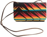 Pendleton Slim Wallet with Strap - Fabric and Leather (For Women)