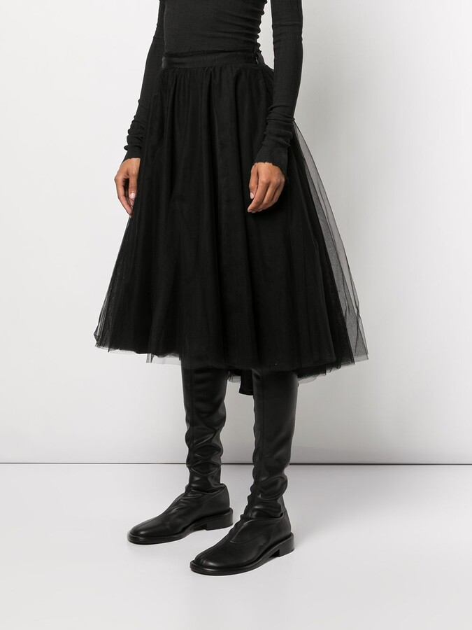 Thumbnail for your product : Marc Le Bihan Tulle-Layered Midi Skirt