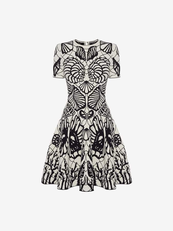 Alexander McQueen Spine Shell Jacquard Mini Dress