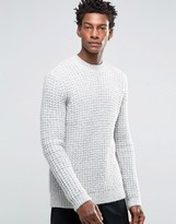 Asos Heavyweight Sweater with Chunky Neck Trim