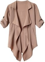 Moonpin Women's Open Front Loose Casual Trenchcoat M