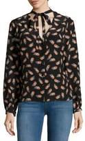 Carolina Herrera Long-Sleeve Silk Blouse