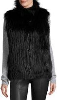Gorski Fox Fur Vest, Black