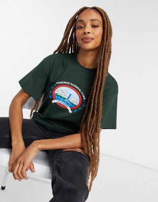 Daisy Street relaxed t-shirt with yosemite print