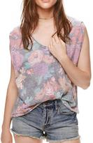 Free People Faded Floral Tee