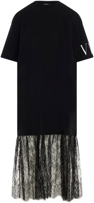 Valentino VLTN Lace Detail T-Shirt Dress