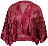 Chesca Butterfly Printed Velvet Jacket