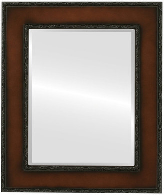 """The Oval And Round Mirror Store Paris Framed Rectangle Mirror in Walnut, 29""""x41"""""""