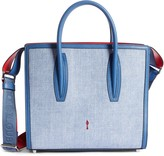 Christian Louboutin Medium Paloma Textile & Calfskin Leather Tote