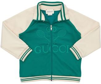 Gucci Zip-up Technical Jersey Sweatshirt