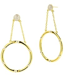 Freida Rothman Radiance Loop Drop Earrings
