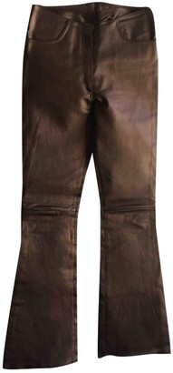 Jitrois Metallic Leather Trousers for Women