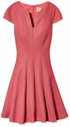 Julia Jordan Women's V Neck Cap Sleeve Fitflare Knit Dress