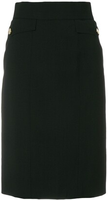 Chanel Pre Owned Flap Pockets Pencil Skirt