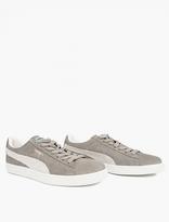 Puma Grey Suede Classic Sneakers