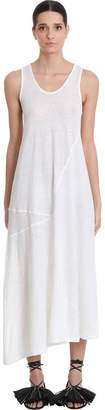 Jil Sander Dress In White Cotton And Linen