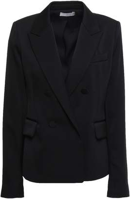 Vince Double-breasted Satin-crepe Blazer