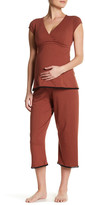 Majamas Lacey Cropped Nursing Pajama Set (Maternity)