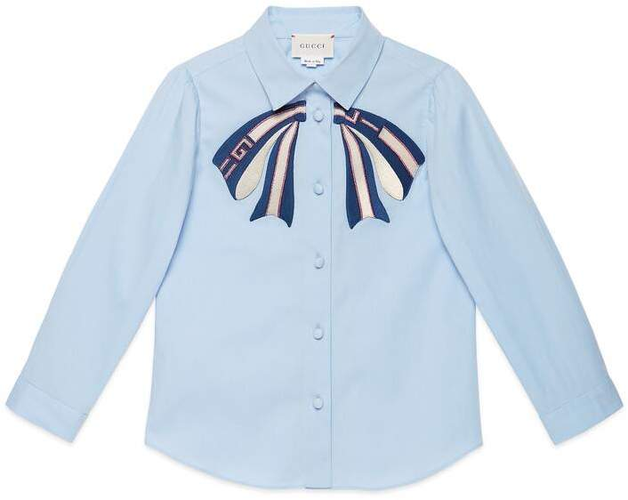 Gucci Children's cotton shirt with bow