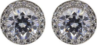 FANTASIA Cubic Zirconia Round Pave Earrings