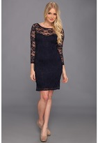 Type Z Ronie Lace Dress (Navy) - Apparel