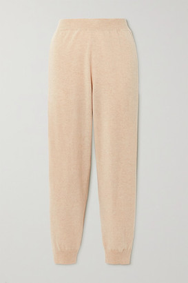 Stella McCartney Net Sustain Crochet-trimmed Cashmere And Wool-blend Track Pants - Beige