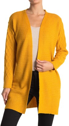 Love by Design Arabella Cable Knit Trim Cardigan