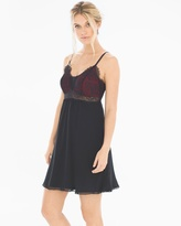 Soma Intimates Breathtaking Sleep Chemise Black/Ruby